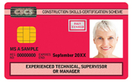 Experienced Technical CSCS Card