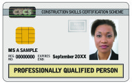 Professionally Qualified CSCS Card