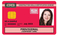 Provisional CSCS Card